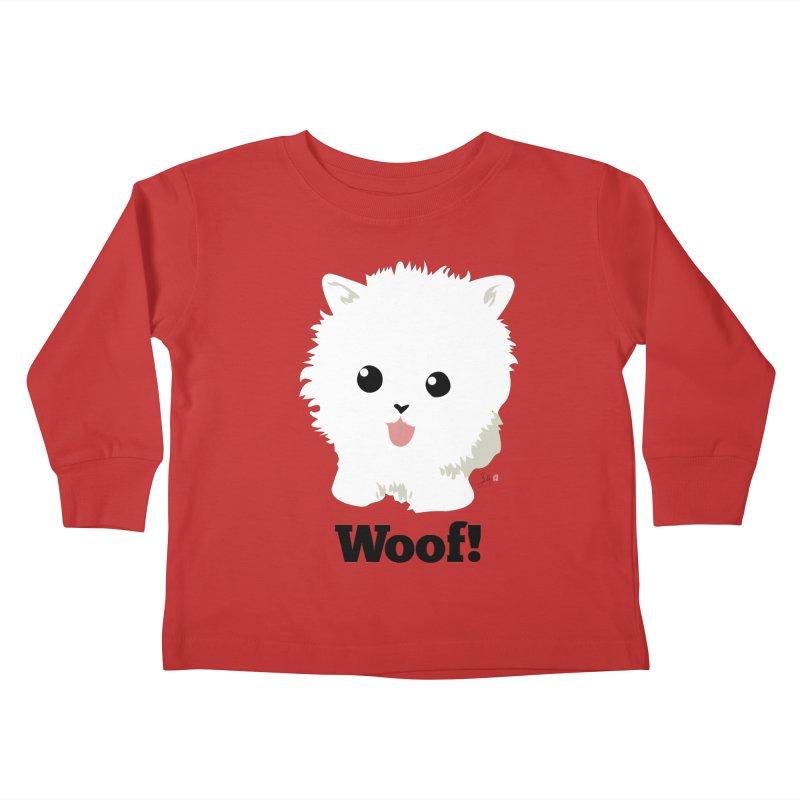 Pomeranian Poof Ball Dog Kids Toddler Longsleeve T-Shirt by Designs by Billy Wan