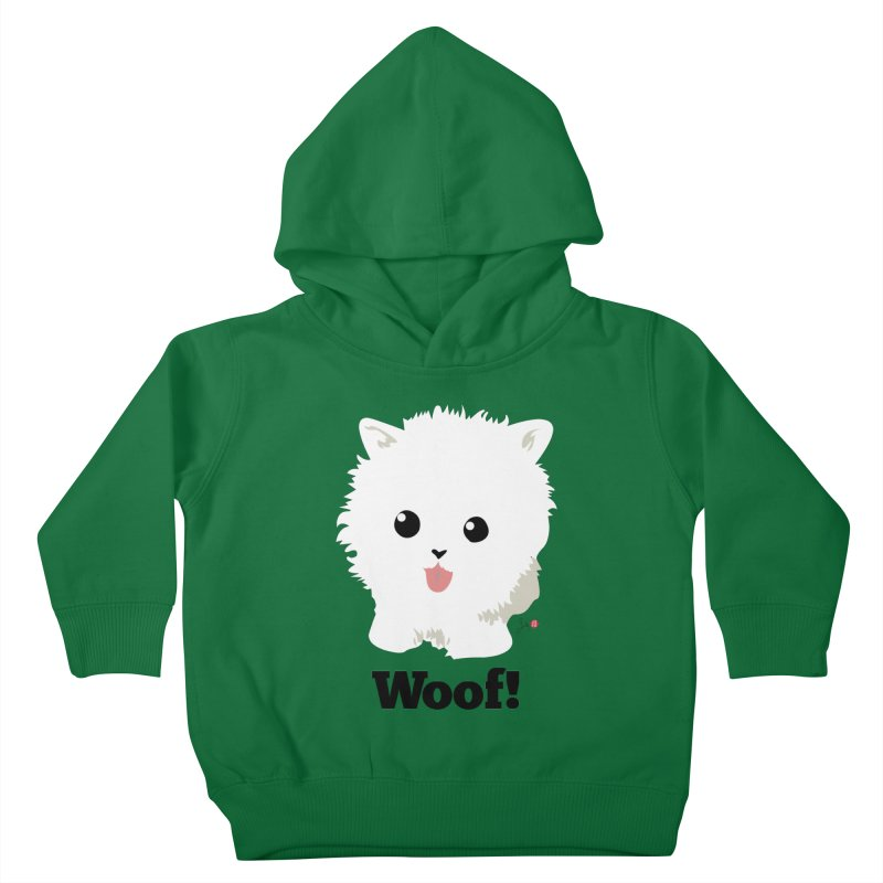 Pomeranian Poof Ball Dog Kids Toddler Pullover Hoody by Designs by Billy Wan