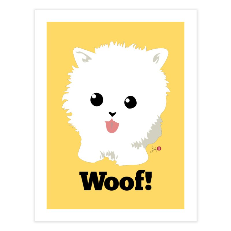 Pomeranian Poof Ball Dog Home Fine Art Print by Designs by Billy Wan