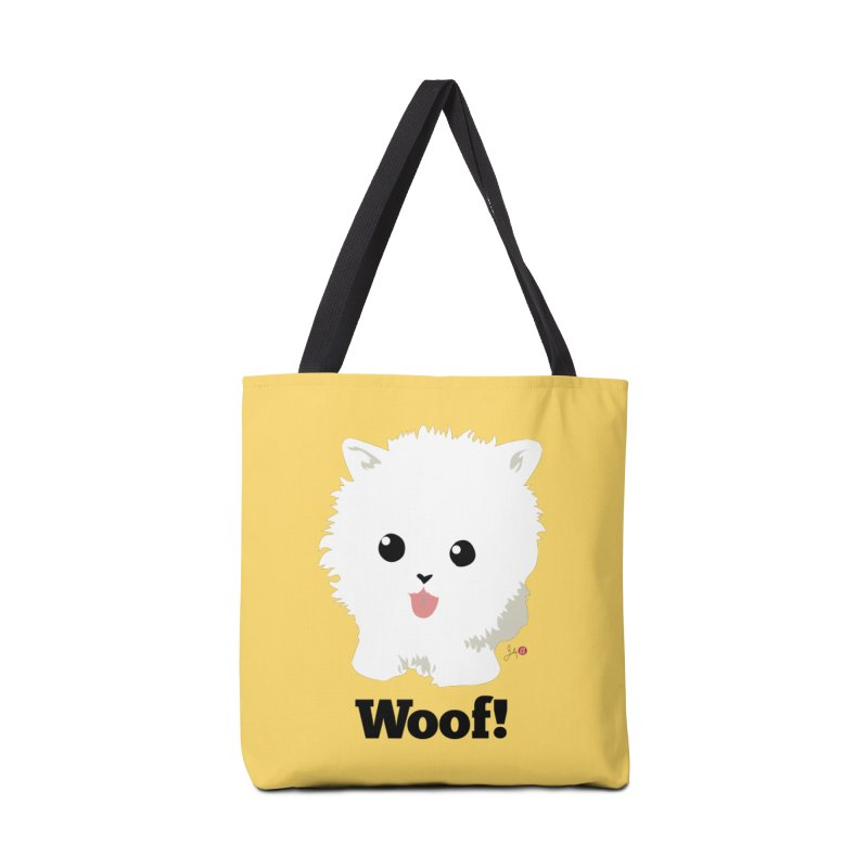Pomeranian Poof Ball Dog Accessories Bag by Designs by Billy Wan