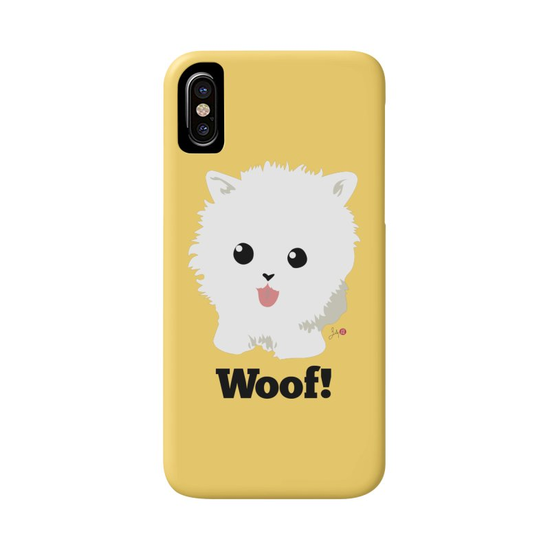Pomeranian Poof Ball Dog Accessories Phone Case by Designs by Billy Wan