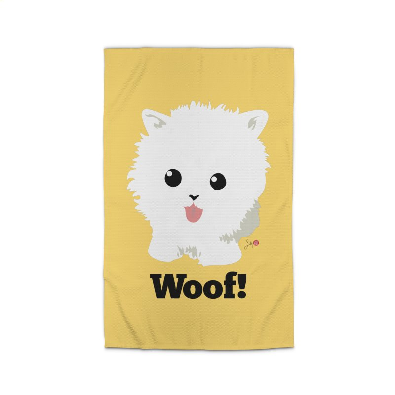 Pomeranian Poof Ball Dog Home Rug by Designs by Billy Wan