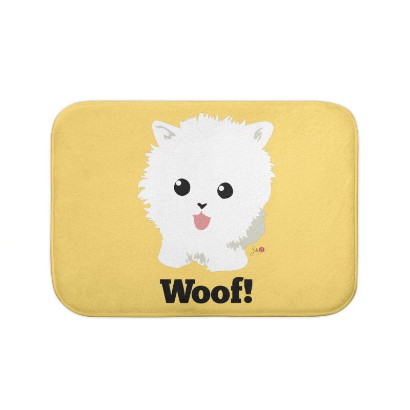 Pomeranian Poof Ball Dog Home Bath Mat by Designs by Billy Wan