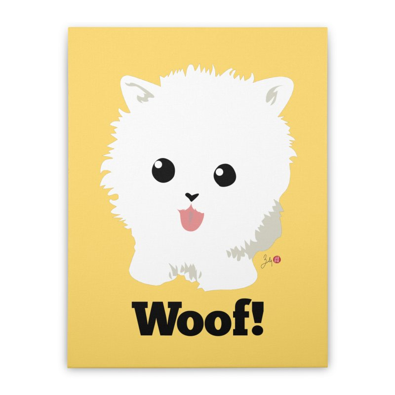 Pomeranian Poof Ball Dog Home Stretched Canvas by Designs by Billy Wan