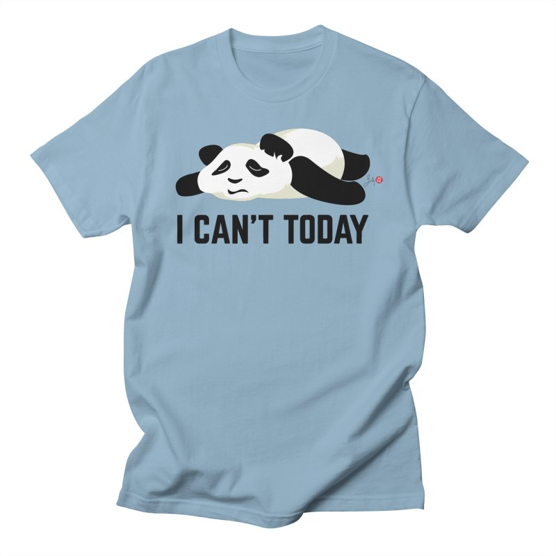I Can't Today in Men's Regular T-Shirt Light Blue by Designs by Billy Wan