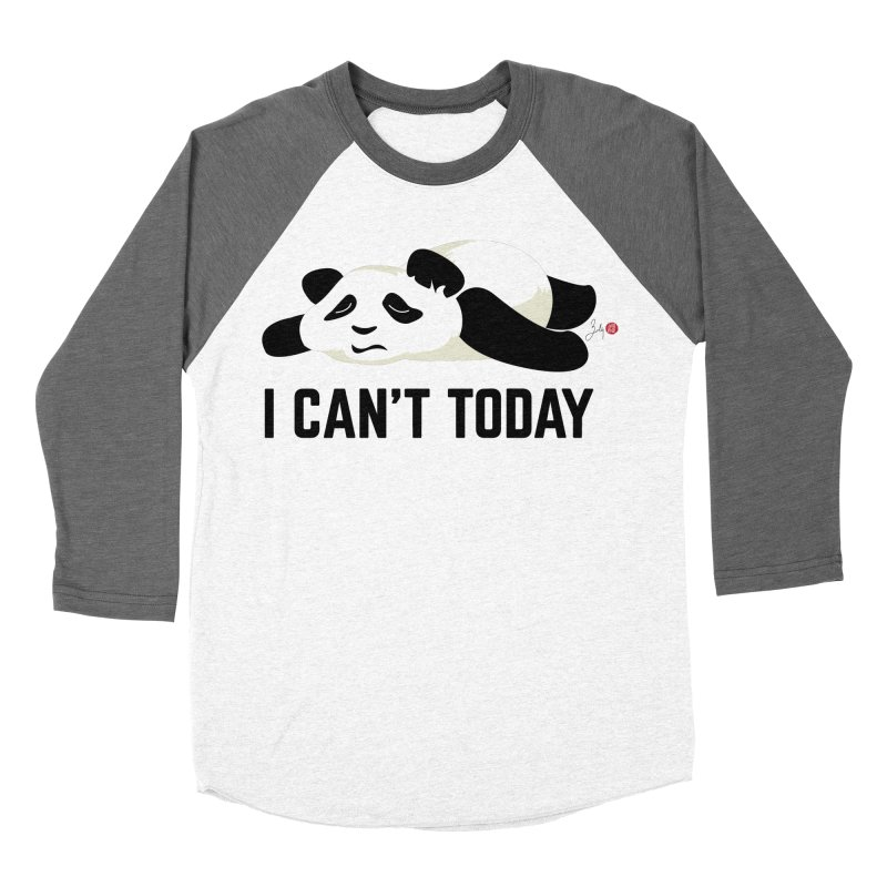 I Can't Today Women's Baseball Triblend Longsleeve T-Shirt by Designs by Billy Wan