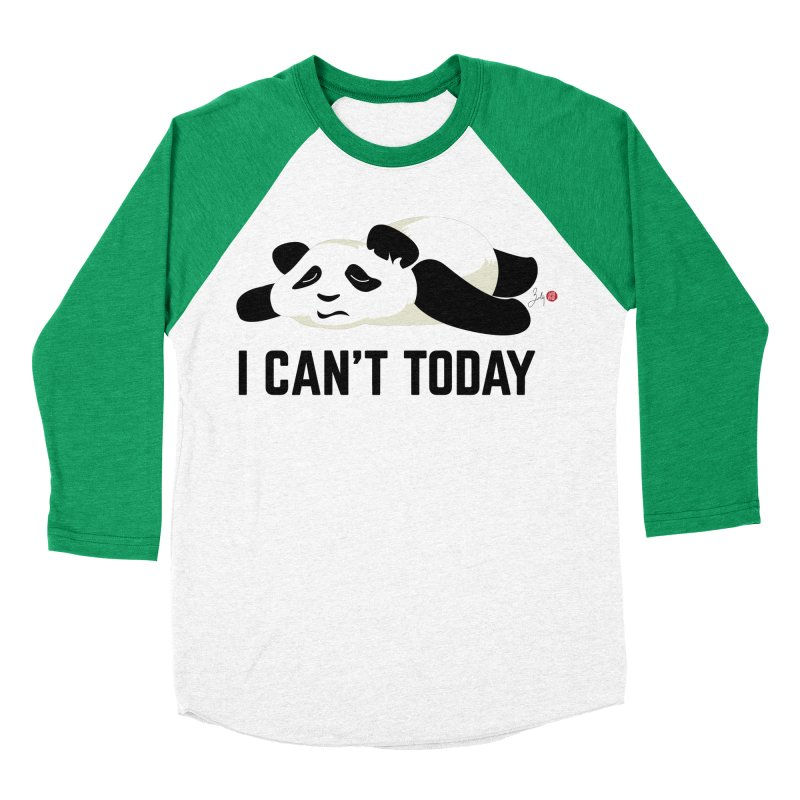 I Can't Today Men's Baseball Triblend Longsleeve T-Shirt by Designs by Billy Wan