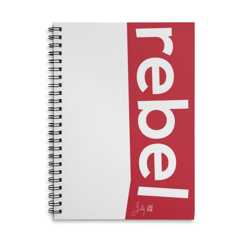 Rebel Accessories Lined Spiral Notebook by Designs by Billy Wan