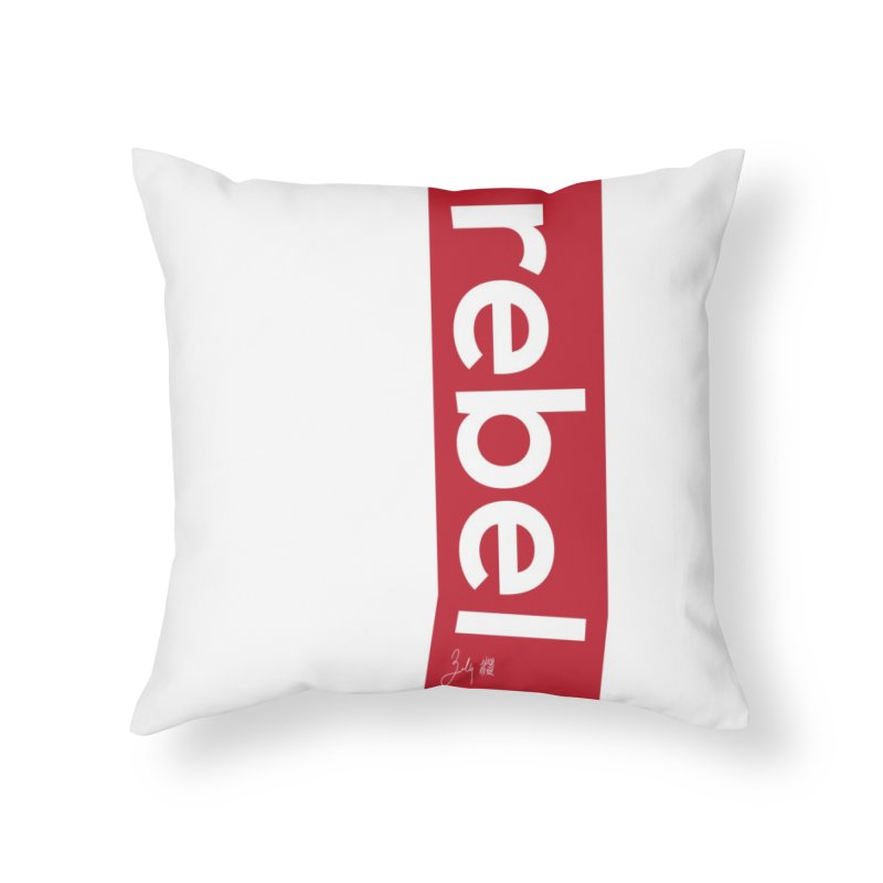 Rebel in Throw Pillow by Designs by Billy Wan