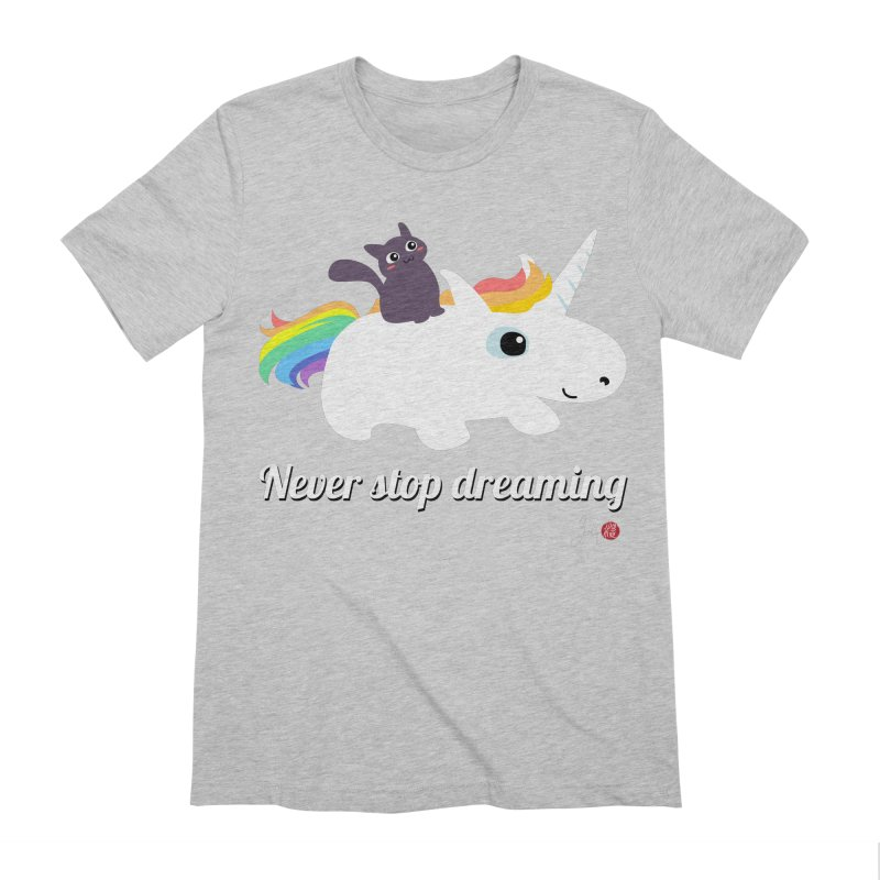 Never Stop Dreaming Men's Extra Soft T-Shirt by Designs by Billy Wan