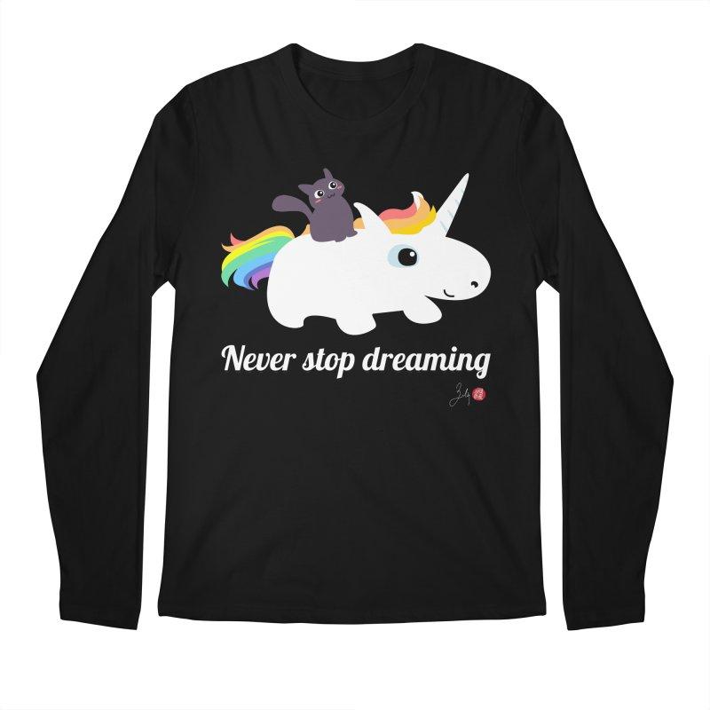 Never Stop Dreaming Men's Regular Longsleeve T-Shirt by Designs by Billy Wan