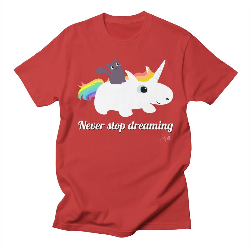 Never Stop Dreaming Men's Regular T-Shirt by Designs by Billy Wan