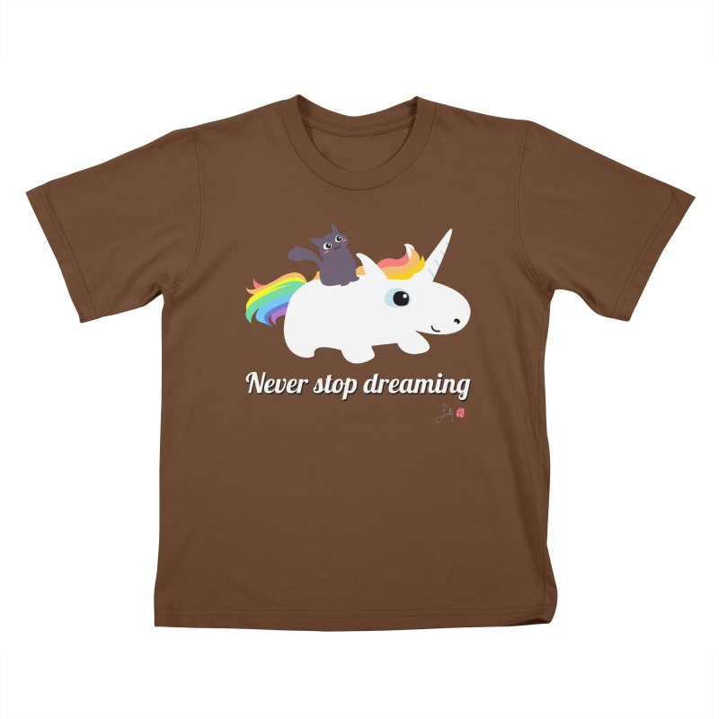 Never Stop Dreaming Kids T-Shirt by Designs by Billy Wan