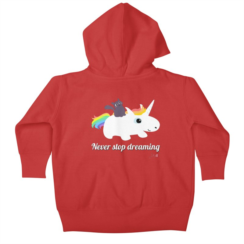 Never Stop Dreaming Kids Baby Zip-Up Hoody by Designs by Billy Wan