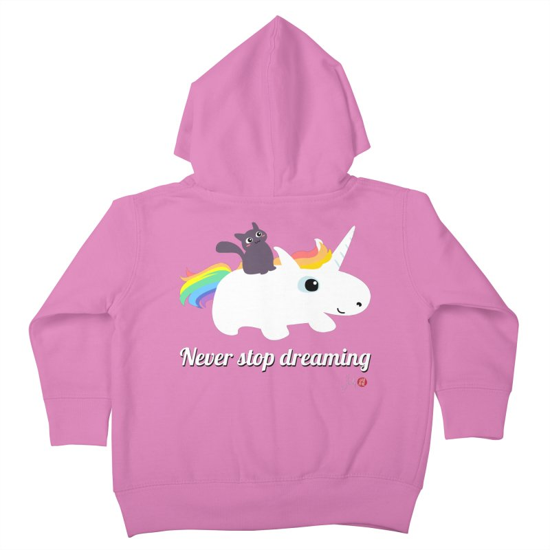 Never Stop Dreaming Kids Toddler Zip-Up Hoody by Designs by Billy Wan