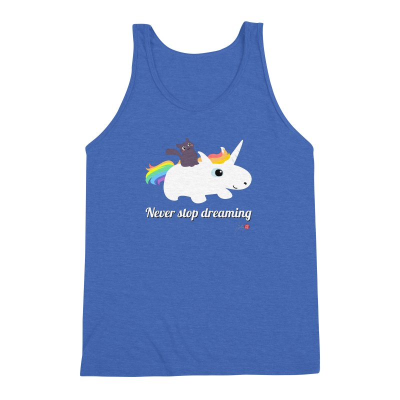Never Stop Dreaming Men's Triblend Tank by Designs by Billy Wan