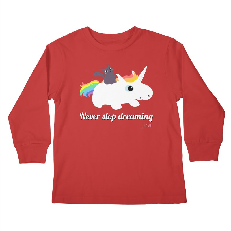 Never Stop Dreaming Kids Longsleeve T-Shirt by Designs by Billy Wan