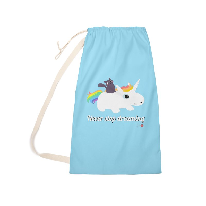 Never Stop Dreaming Accessories Laundry Bag Bag by Designs by Billy Wan