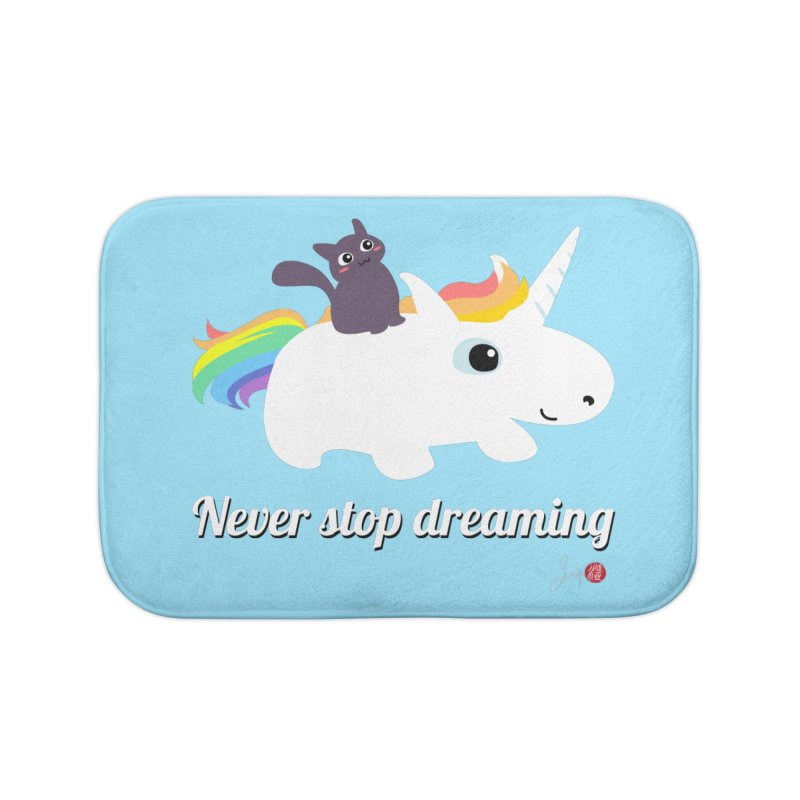 Never Stop Dreaming Home Bath Mat by Designs by Billy Wan