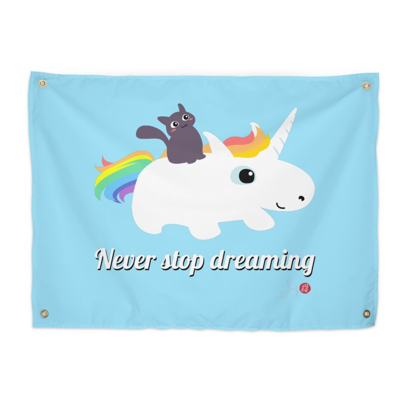Never Stop Dreaming Home Tapestry by Designs by Billy Wan
