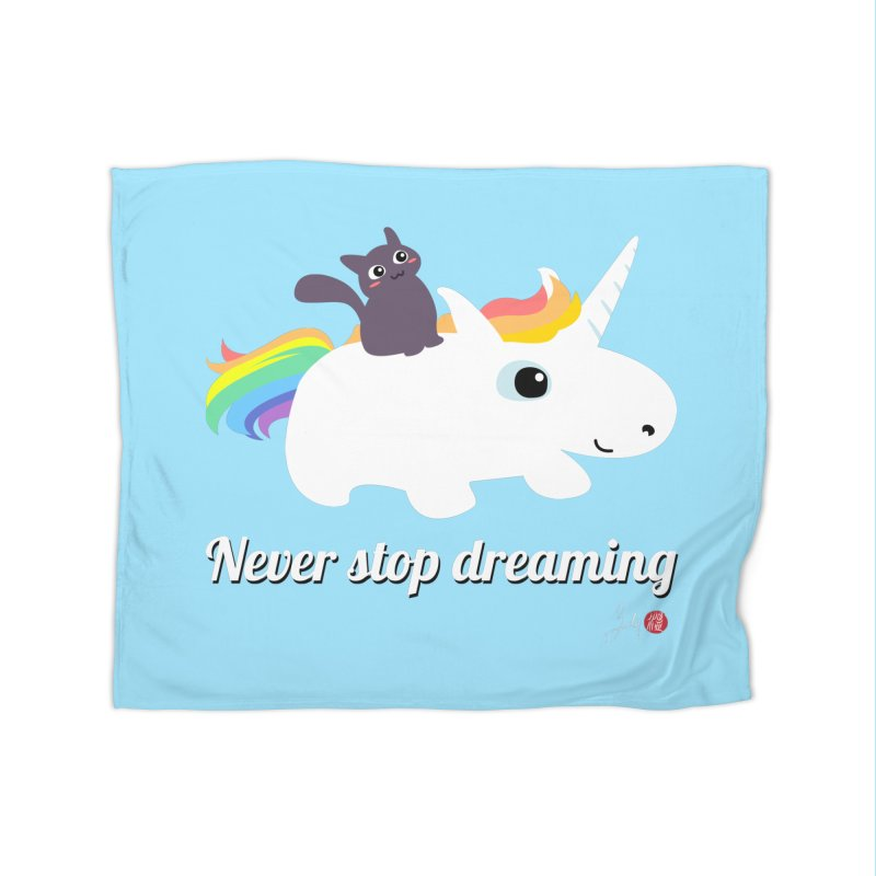 Never Stop Dreaming Home Fleece Blanket Blanket by Designs by Billy Wan