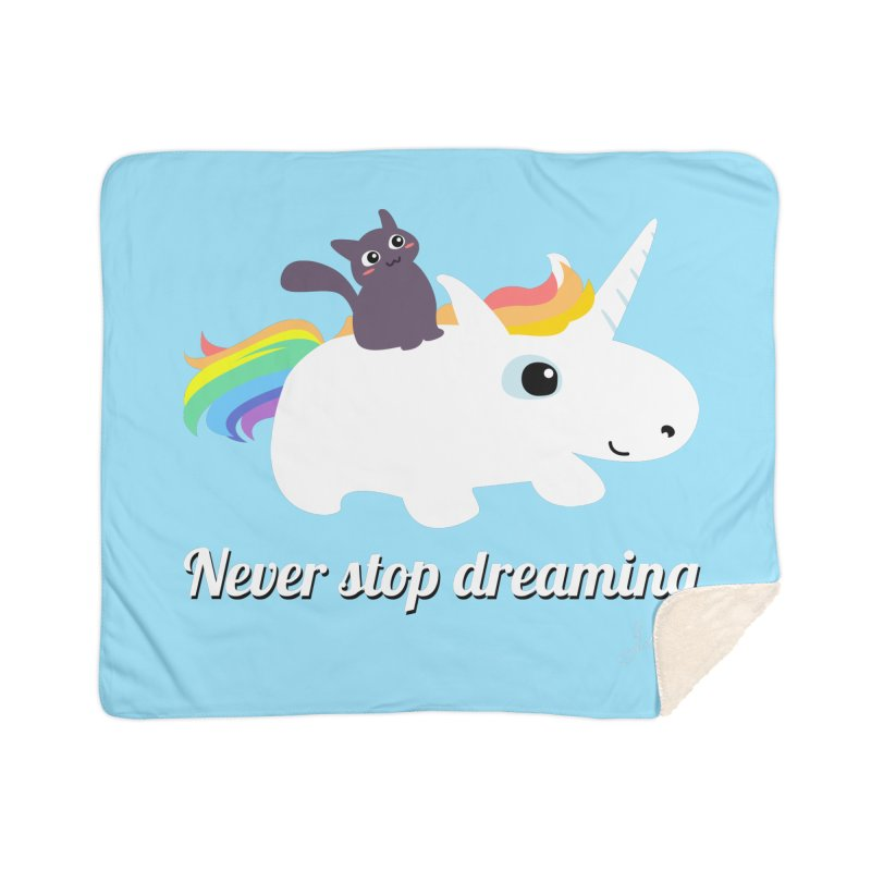 Never Stop Dreaming Home Sherpa Blanket Blanket by Designs by Billy Wan