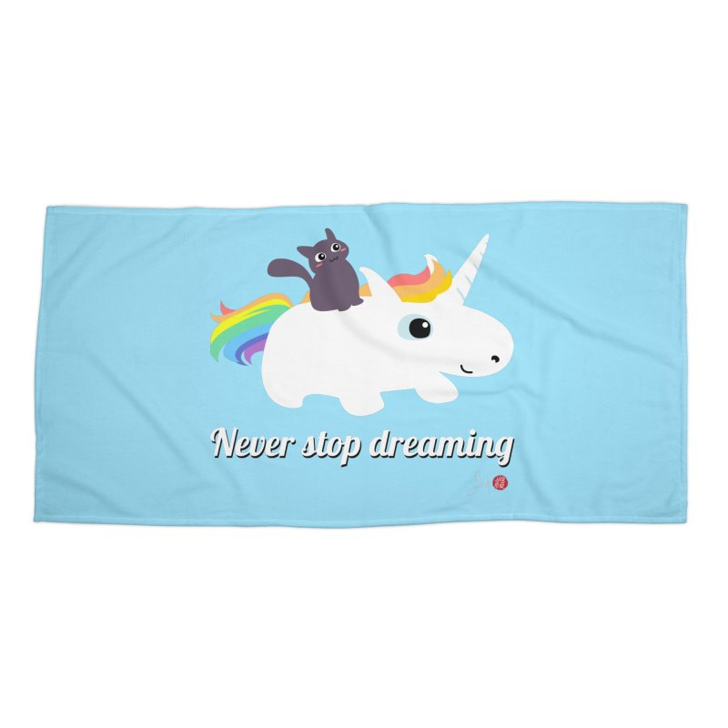 Never Stop Dreaming Accessories Beach Towel by Designs by Billy Wan