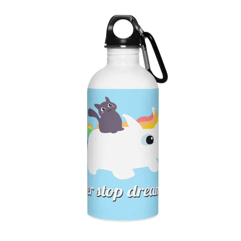 Never Stop Dreaming Accessories Water Bottle by Designs by Billy Wan