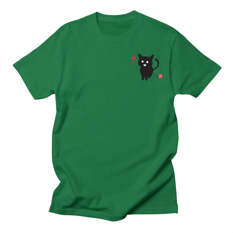 Cat Love With Hearts (Small) Men's T-Shirt by Designs by Billy Wan