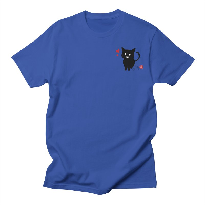 Cat Love With Hearts (Small) Women's Regular Unisex T-Shirt by Designs by Billy Wan