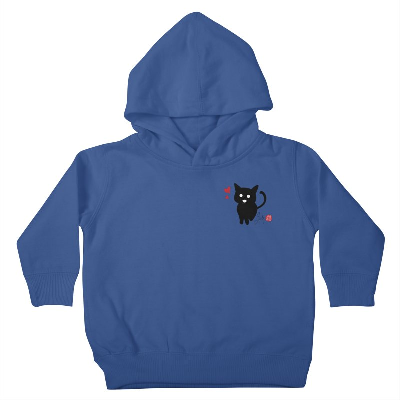 Cat Love With Hearts (Small) Kids Toddler Pullover Hoody by Designs by Billy Wan