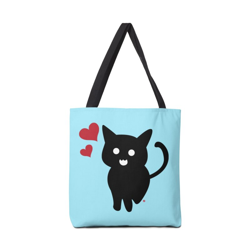 Cat Love With Hearts (Large) Accessories Bag by Designs by Billy Wan