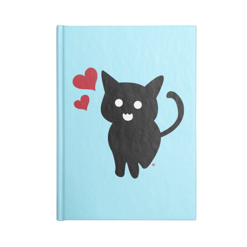 Cat Love With Hearts (Large) Accessories Notebook by Designs by Billy Wan