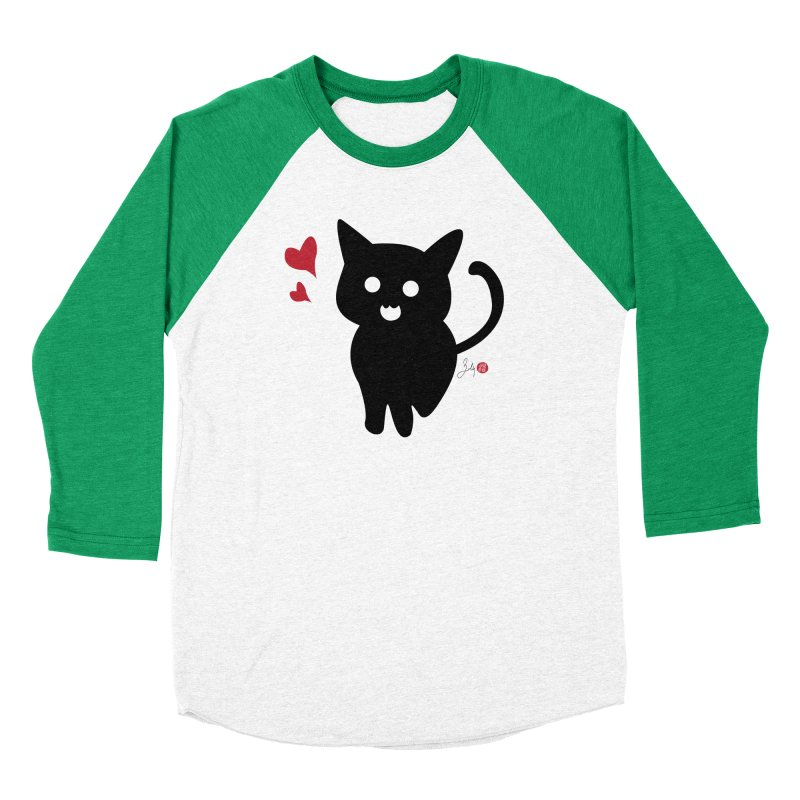 Cat Love With Hearts (Large) Men's Longsleeve T-Shirt by Designs by Billy Wan