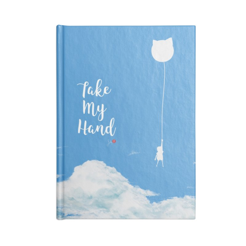 Take My Hand Accessories Lined Journal Notebook by Designs by Billy Wan