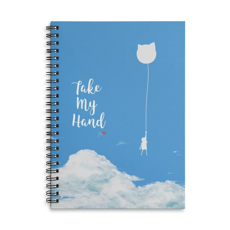 Take My Hand Accessories Lined Spiral Notebook by Designs by Billy Wan