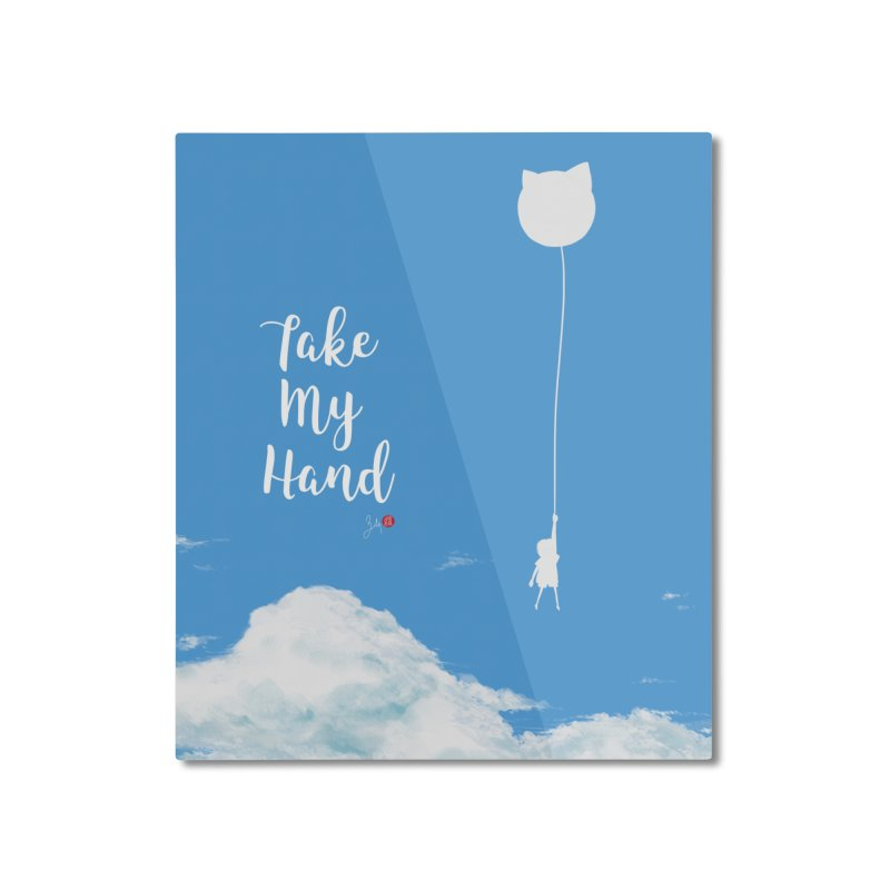Take My Hand in Mounted Aluminum Print by Designs by Billy Wan
