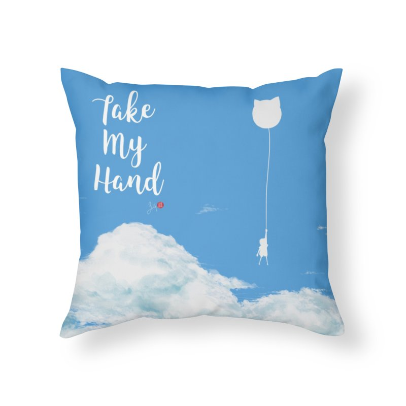 Take My Hand Home Throw Pillow by Designs by Billy Wan