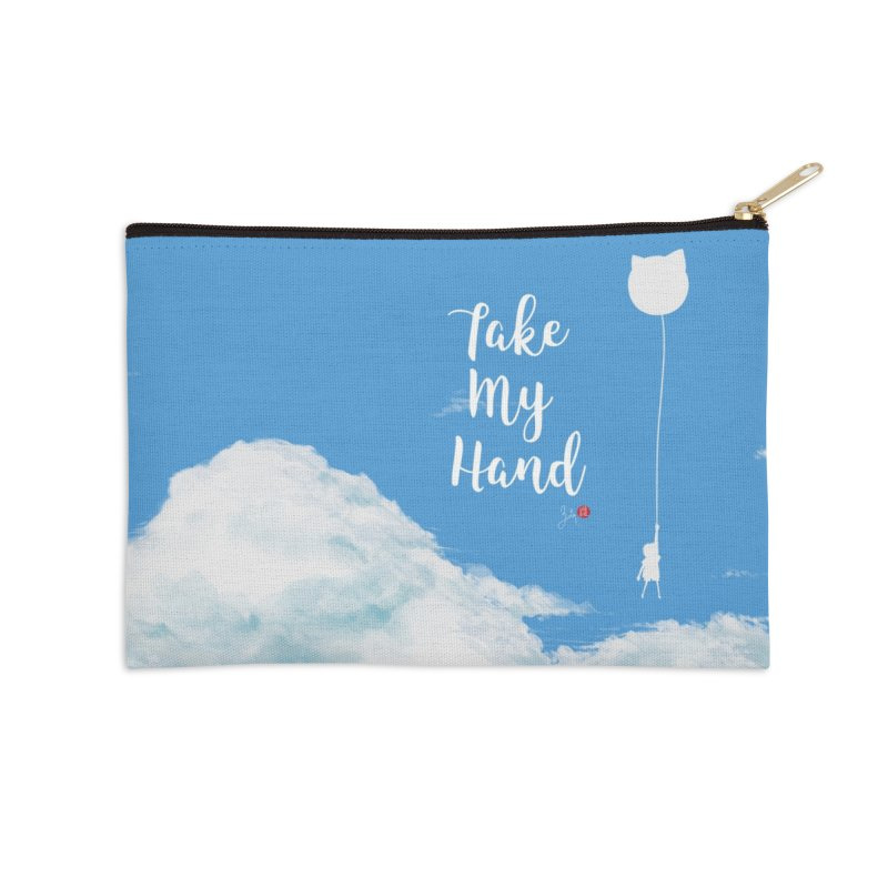 Take My Hand Accessories Zip Pouch by Designs by Billy Wan