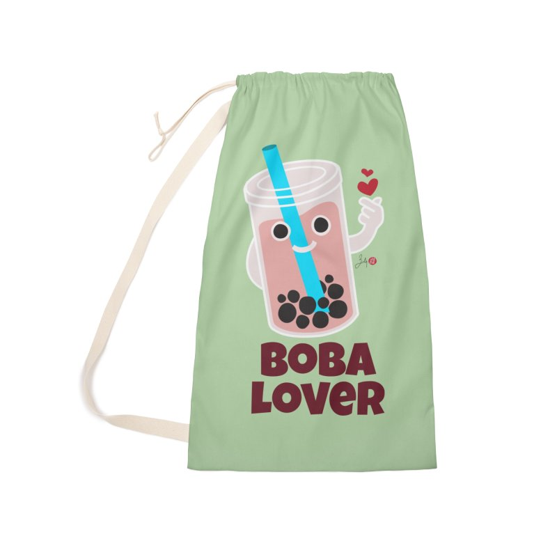 Boba Lover Accessories Laundry Bag Bag by Designs by Billy Wan