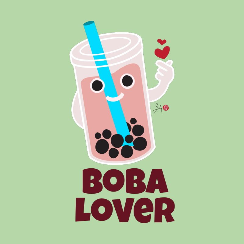 Boba Lover Kids Baby Zip-Up Hoody by Designs by Billy Wan