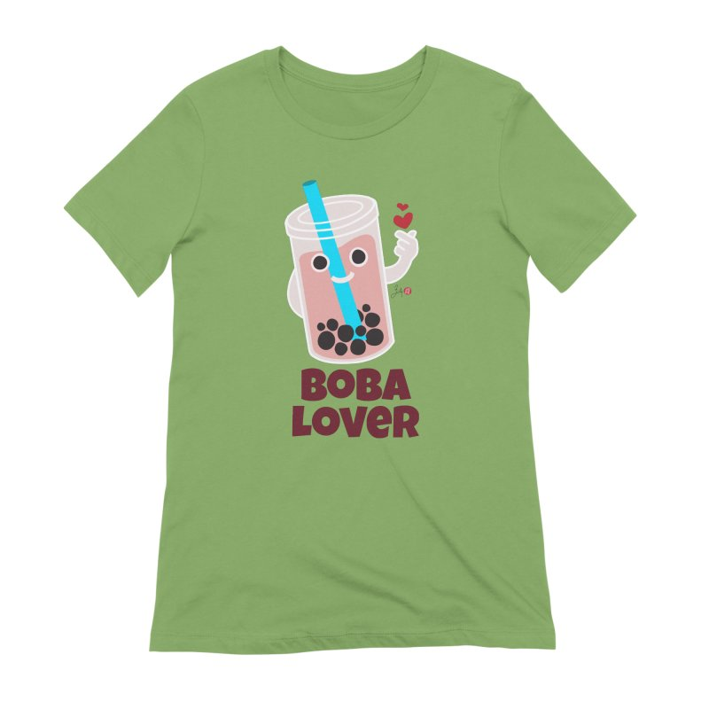 Boba Lover Women's Extra Soft T-Shirt by Designs by Billy Wan