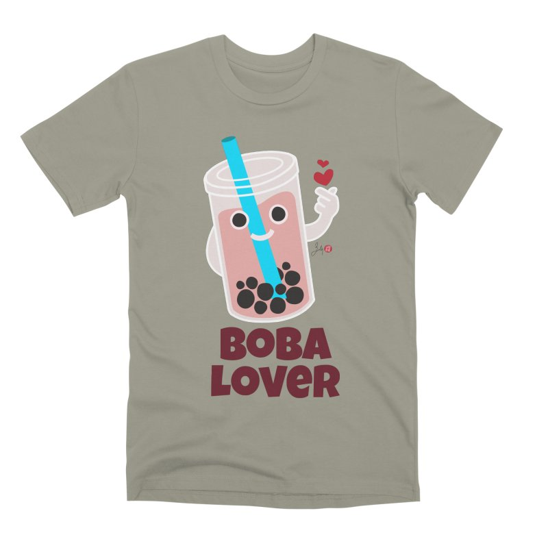 Boba Lover Men's Premium T-Shirt by Designs by Billy Wan