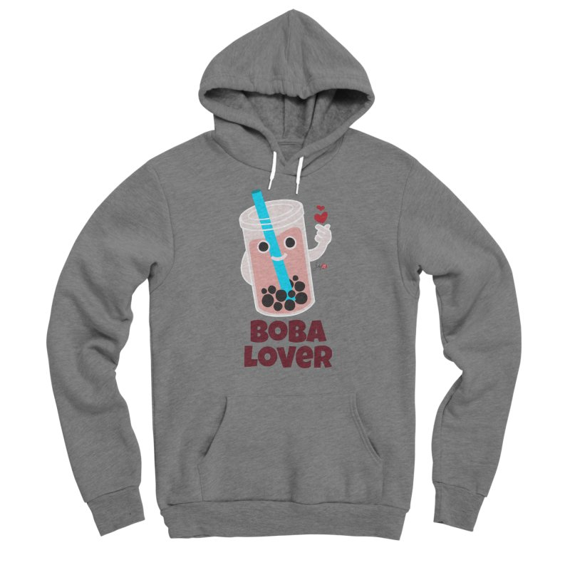 Boba Lover Men's Sponge Fleece Pullover Hoody by Designs by Billy Wan