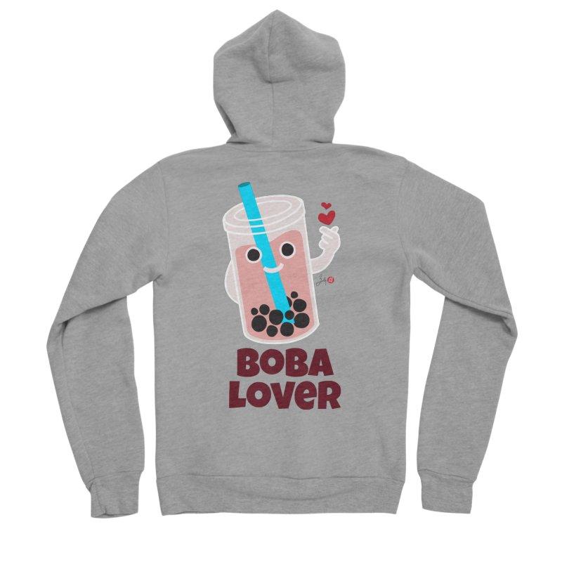Boba Lover Women's Sponge Fleece Zip-Up Hoody by Designs by Billy Wan