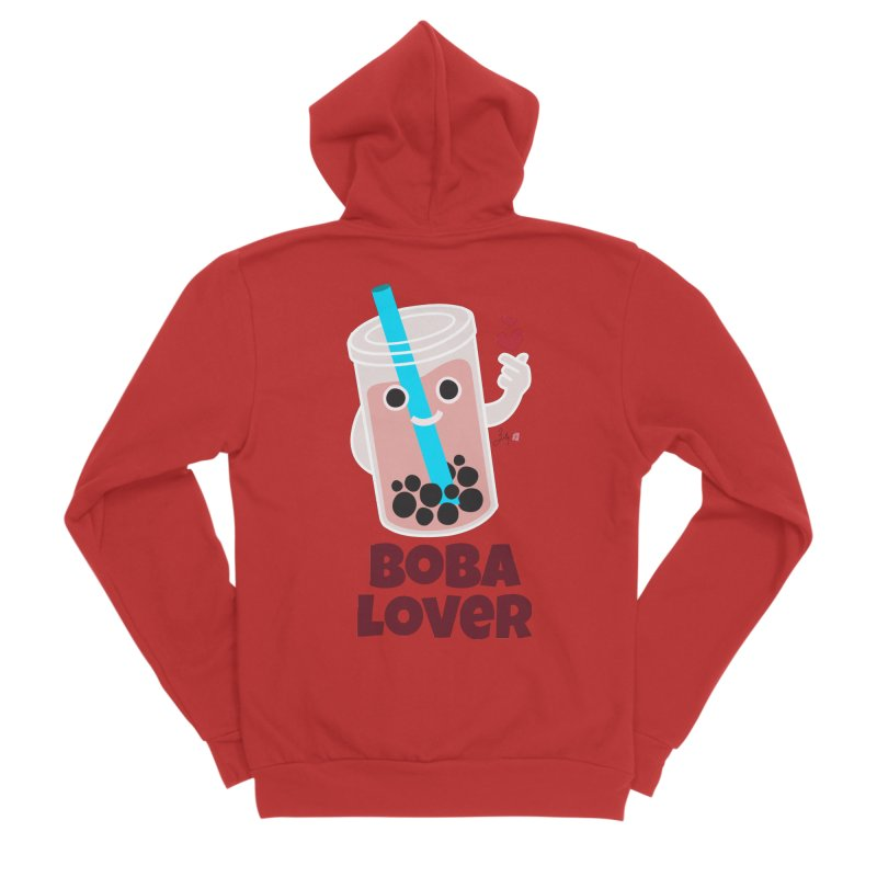Boba Lover Men's Zip-Up Hoody by Designs by Billy Wan