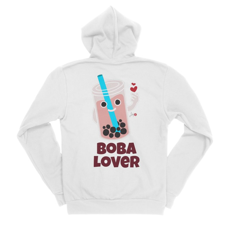 Boba Lover Women's Sponge Fleece Zip-Up Hoody by Designs by Billy Wan