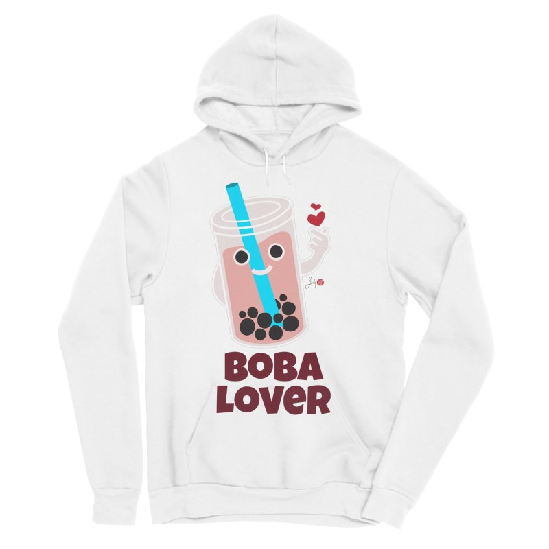 Boba Lover Women's Sponge Fleece Pullover Hoody by Designs by Billy Wan