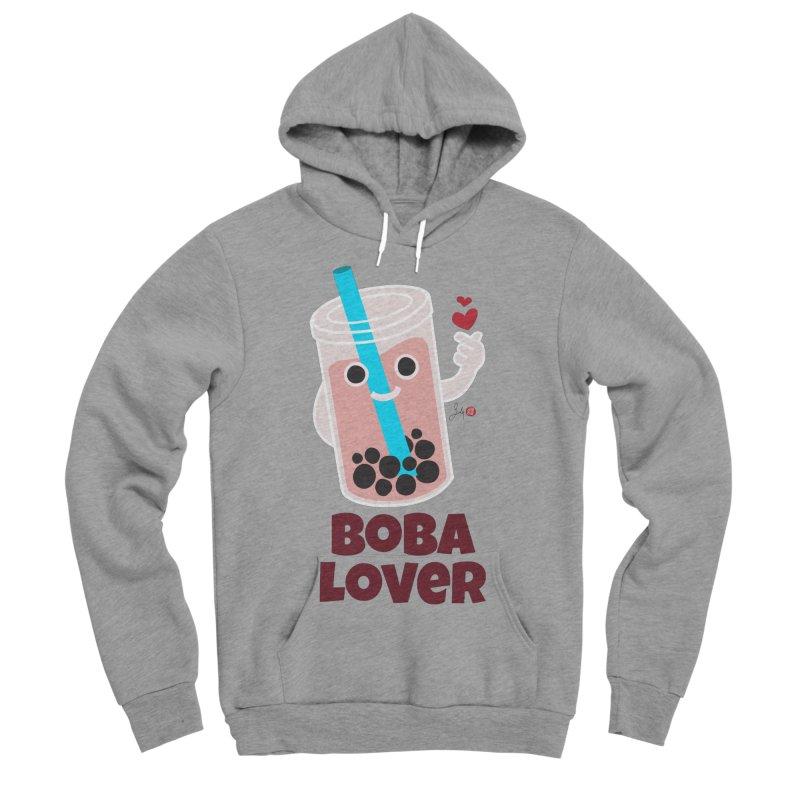 Boba Lover Women's Sponge Fleece Pullover Hoody by Designs by Billy Wan
