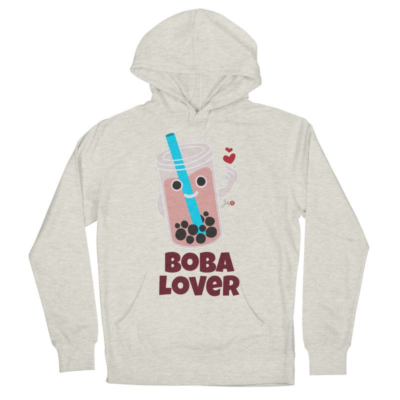 Boba Lover Women's French Terry Pullover Hoody by Designs by Billy Wan
